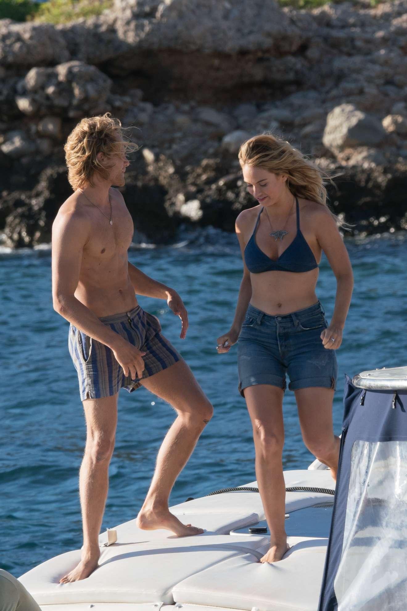 Lily James - In Bikini on Mamma Mia 2 - Here We Go Again set in Vis - Croatia