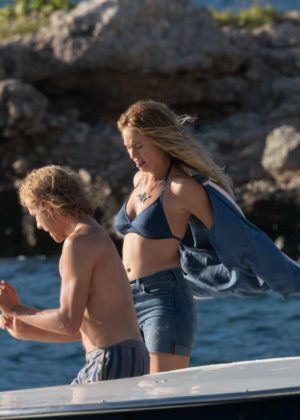 Lily James: In Bikini on Mamma Mia 2 - Here We Go Again