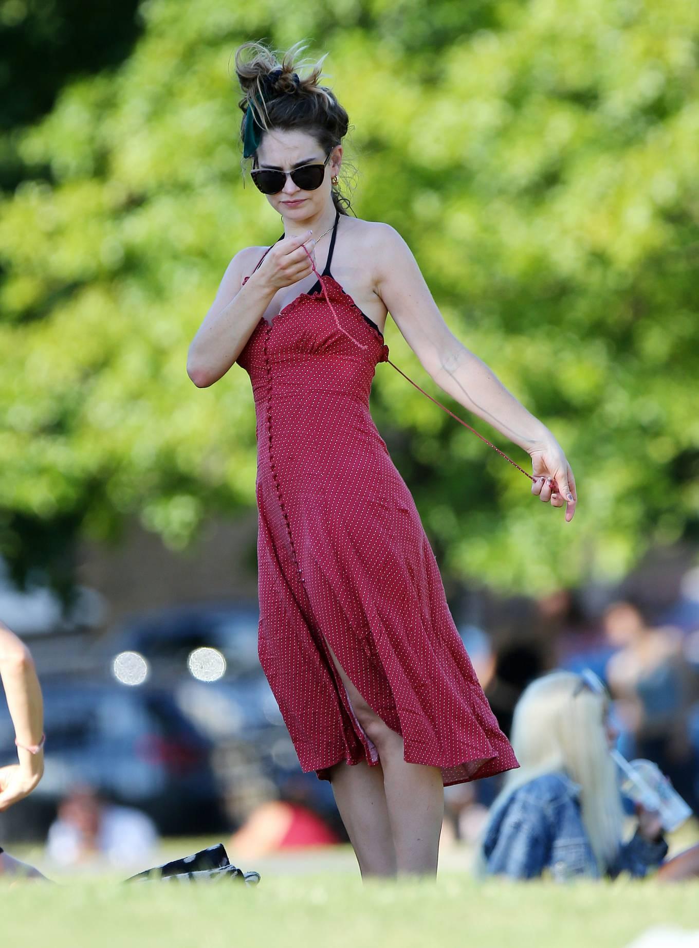 Lily James 2020 : Lily James in Black Bikini 2020-11