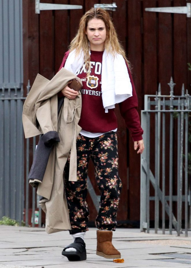 Lily James - Leaving her home in London
