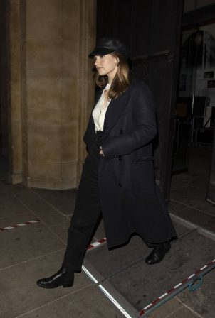 Lily James - Leaving 'St Lukes' Church in Chelsea