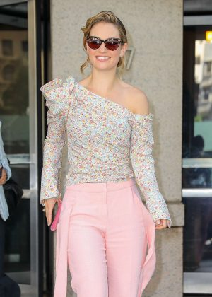 Lily James - Leaving the ABC studios in New York City