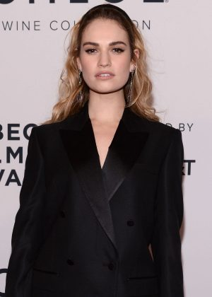 Lily James - 'Little Woods' Premiere at the 2018 Tribeca Film Festival in NY