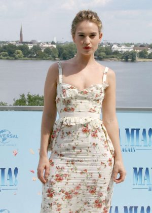 Lily James - 'Mamma Mia! Here We Go Again' Photocall in Hamburg