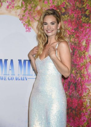 Lily James - 'Mamma Mia! Here we go again' Premiere in Stockholm