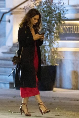 Lily James - Night out at Mark's Club in London