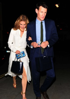 Lily James - Night out in London