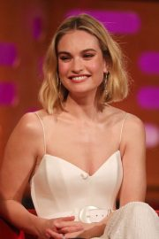 Lily James - On Graham Norton Show in London