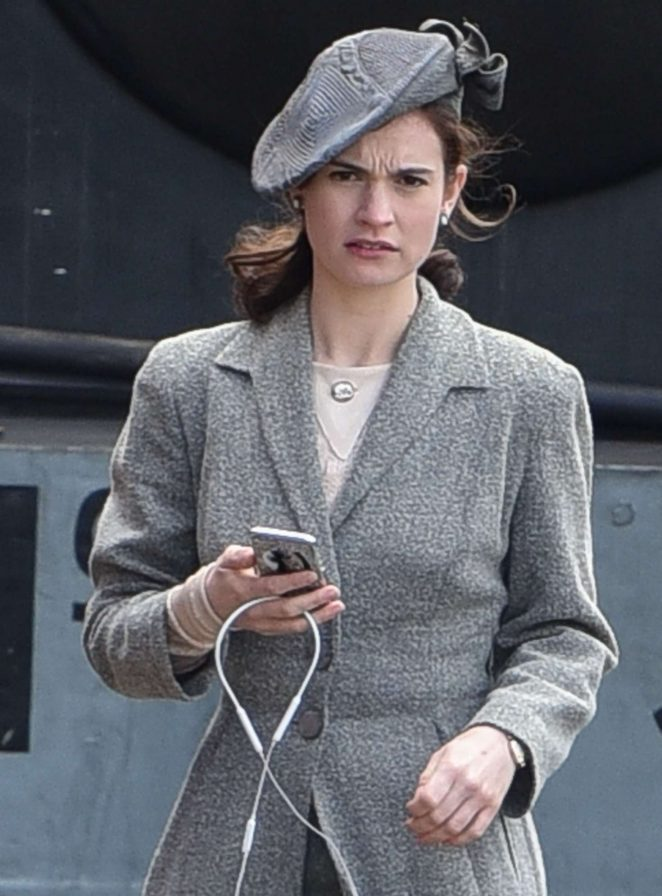 Lily James on 'Guernsey' set in Bristol