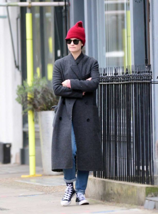 Lily James - Out for a stroll in London