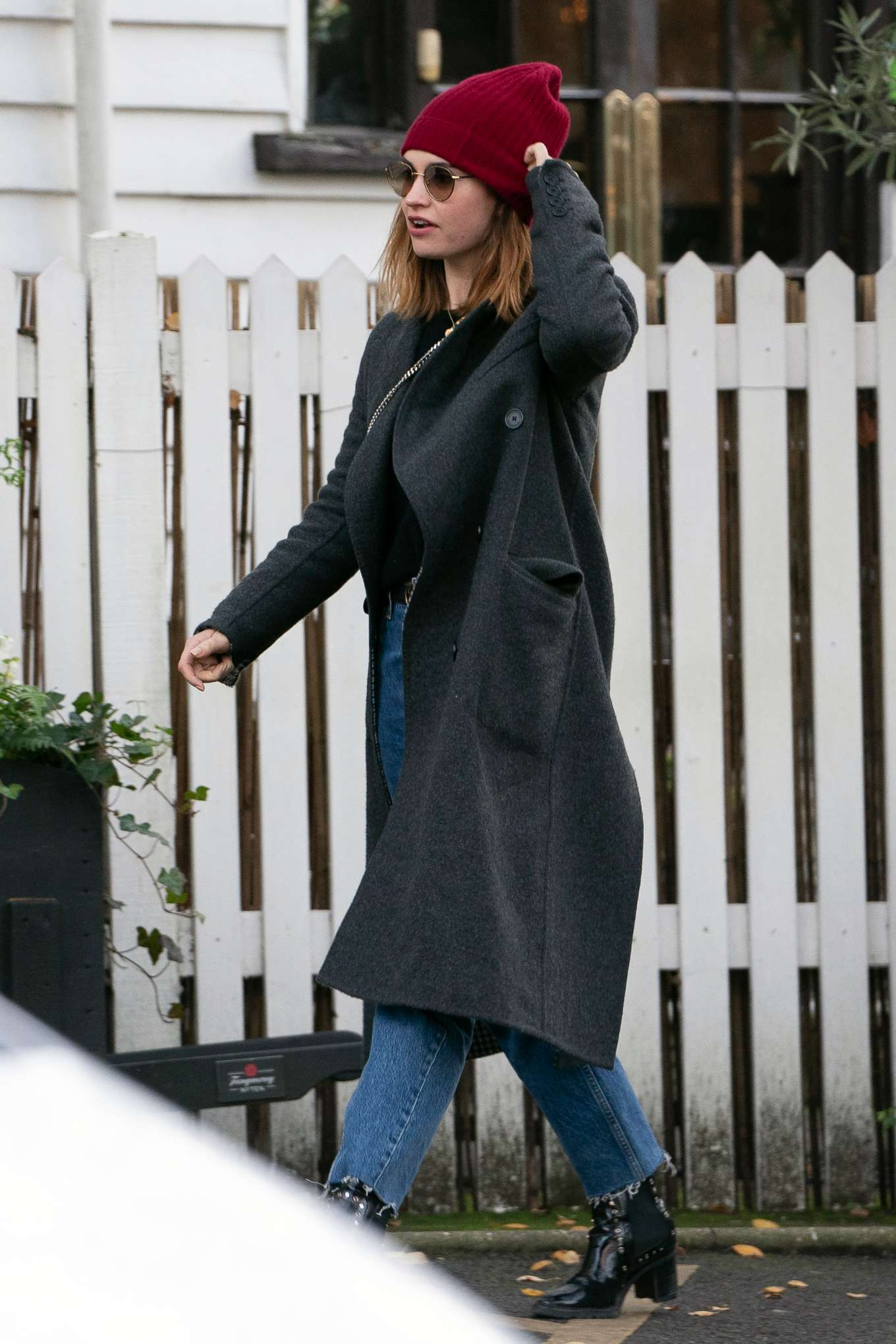Lily James - Out for lunch in London