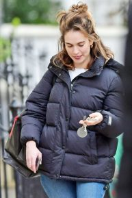 Lily James - Out in London