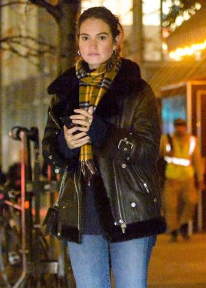 Lily James - Out in New York