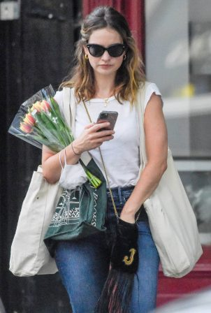 Lily James - Out in North London