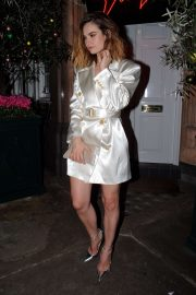 Lily James - Outside Harry's Bar in Mayfair