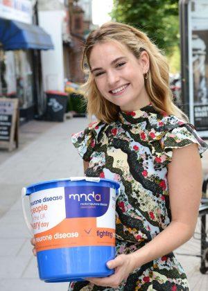 Lily James - Patron of MNDA. Motor Neurone Disease Association in East Finchley