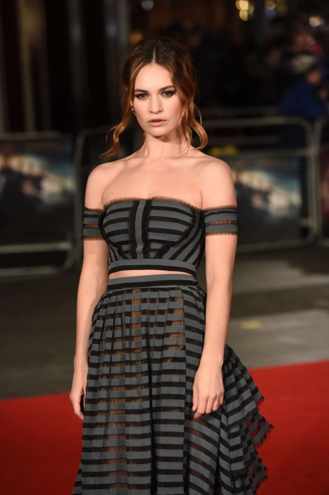 Lily James - 'Pride and Prejudice and Zombies' Premiere in London