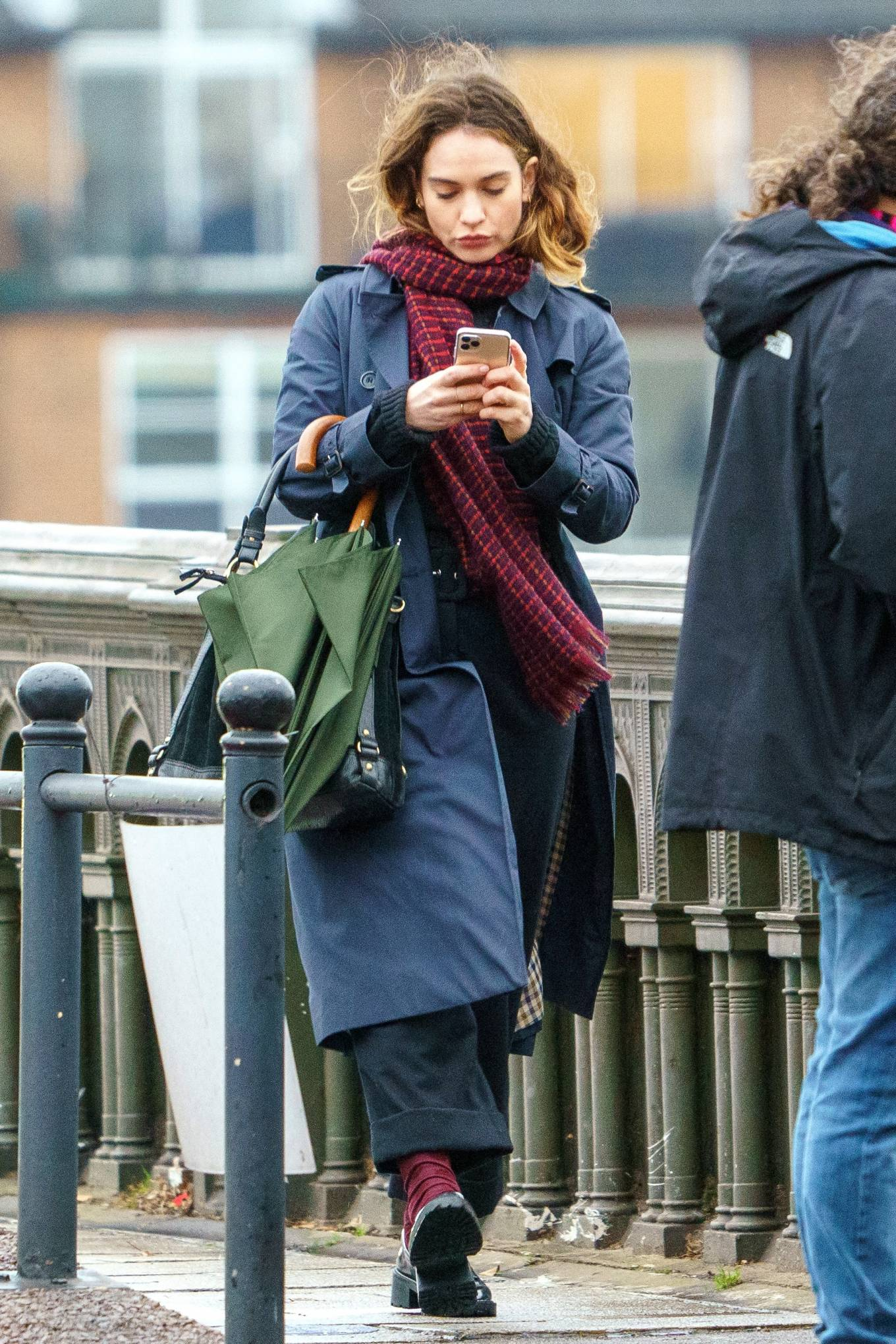 Lily James 2021 : Lily James – Seen on set of Whats Love Got To Do With It in London-11