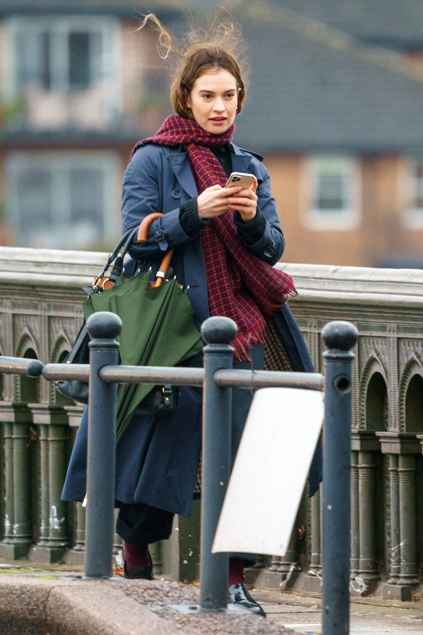 Lily James 2021 : Lily James – Seen on set of Whats Love Got To Do With It in London-12