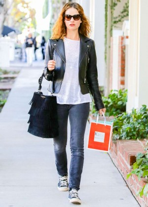 Lily James - Shopping in Los Angeles