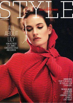 Lily James - Sunday Times Style Magazine (January 2019)
