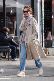 Lily James - Takes a stroll in Ladbroke Grove in London