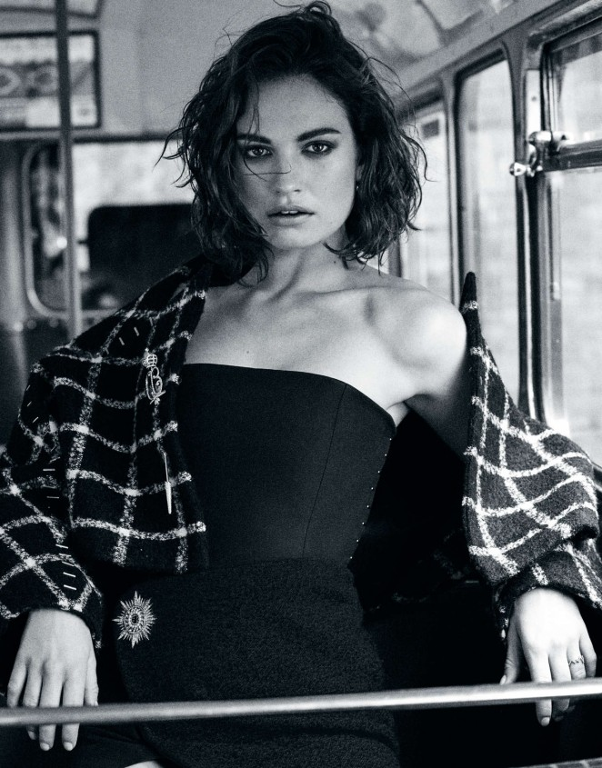 Lily James - The Edit Photoshoot (September 2015)