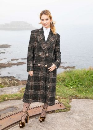 Lily James - 'The Guernsey Literary and Potato Peel Pie Society' Photocall in Guernsey