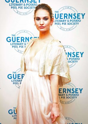 Lily James - 'The Guernsey Literary and Potato Peel Pie Society' Premiere in Guernsey