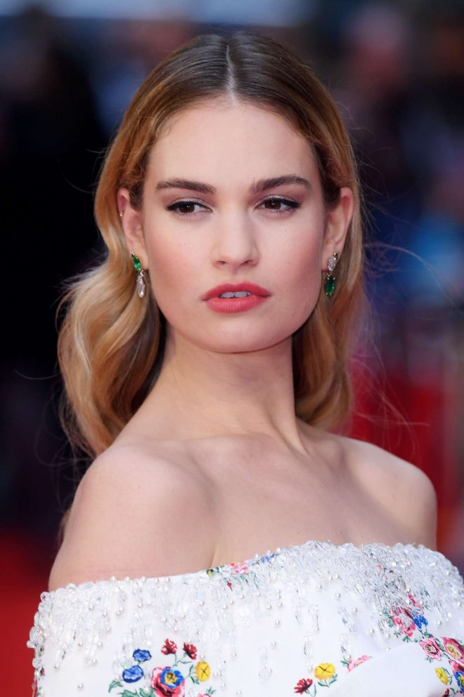 Lily James - 'The Guernsey Literary and Potato Peel Pie Society' Premiere in London