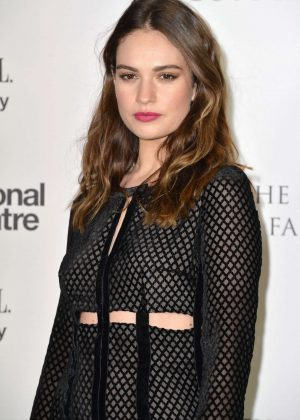 Lily James - The National Theatre Gala 2017 in London