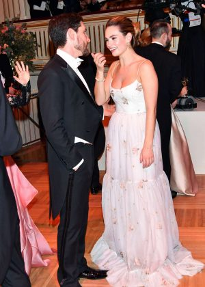 Lily James - Vienna Opera Ball Opening Ceremony in Austria