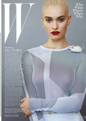 Lily James - W Magazine Cover (March 2015)