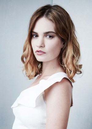 Lily James - 'War and Peace' Portrait Session at 2016 Winter TCA