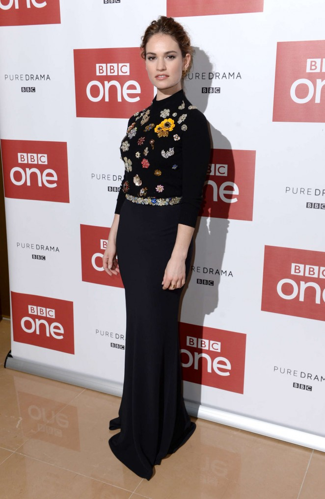 Lily James - 'War and Peace' Premiere in London