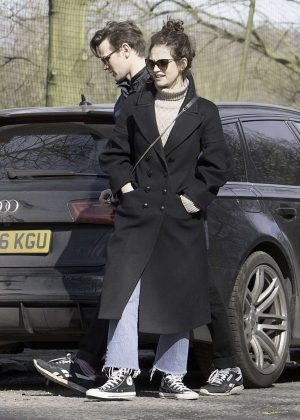 Lily James with boyfriend Matt Smith out in London