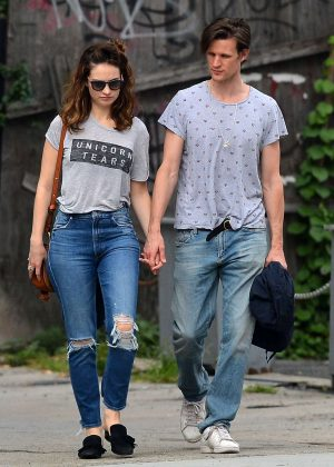 Lily James with boyfriend out in New York City