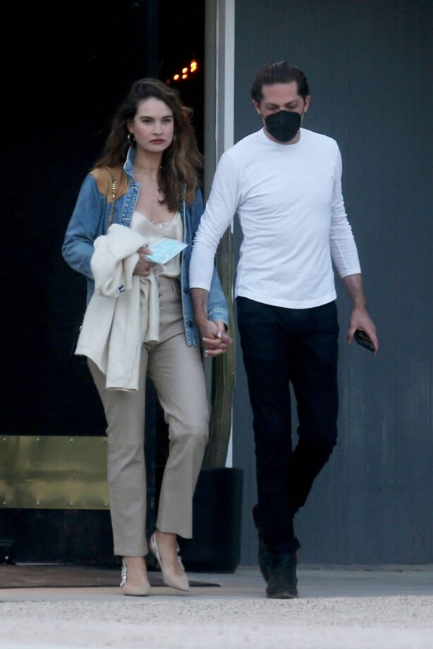 Lily James - With Michael Shuman in Palm Springs