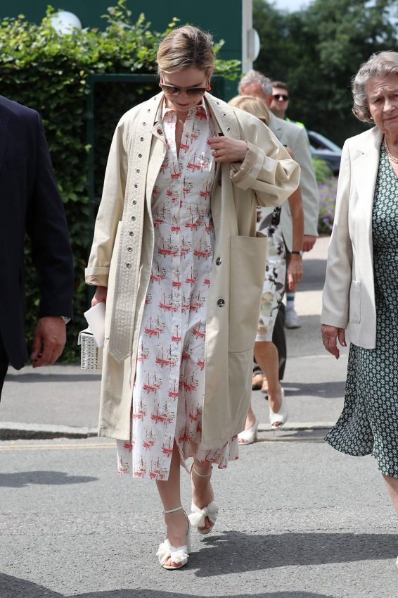 Lily James - Women's Final Day at the Wimbledon 2019 Tennis in London