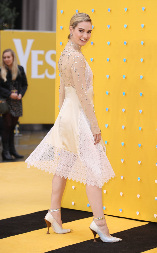 Lily James: Yesterday UK Premiere-01
