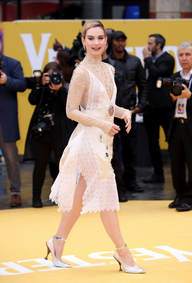 Lily James: Yesterday UK Premiere-03