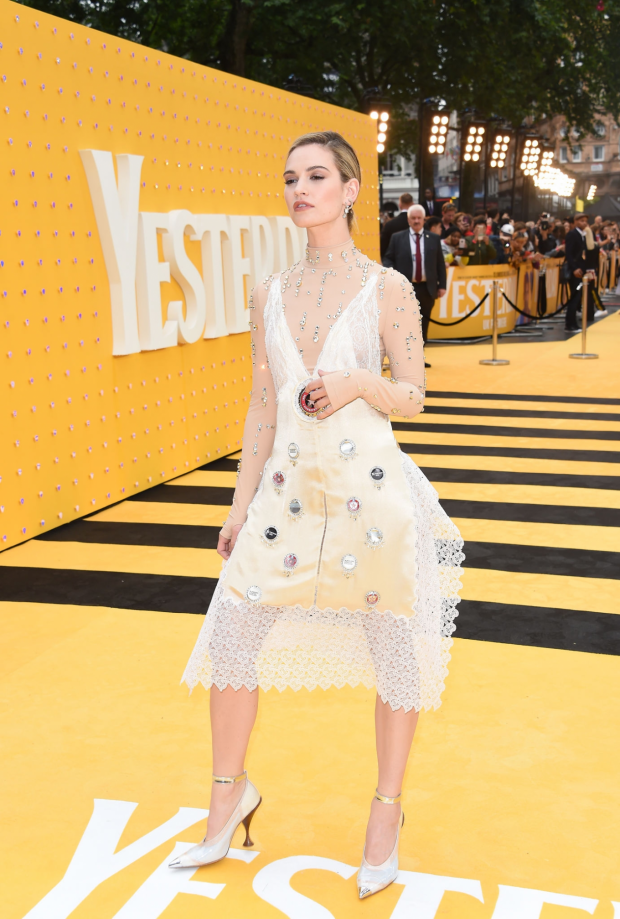 Lily James: Yesterday UK Premiere-33
