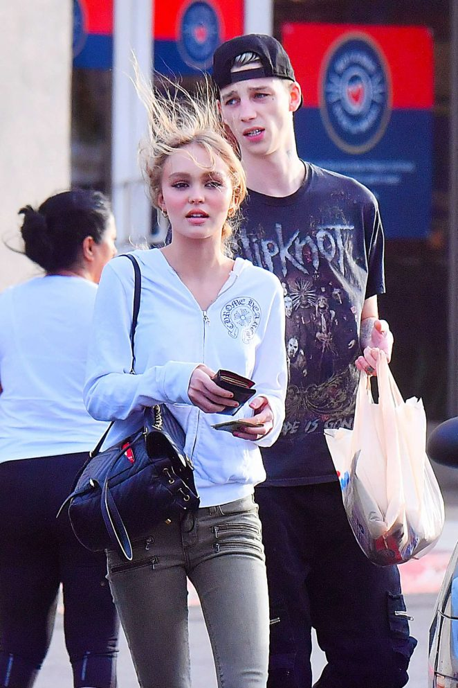 ee7835d740cf Lily Rose Depp and boyfriend Ash Stymest out in Los Angeles -30 ...