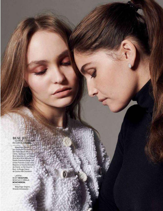 Lily Rose Depp and Laetitia Casta – Madame Figaro Magazine (December