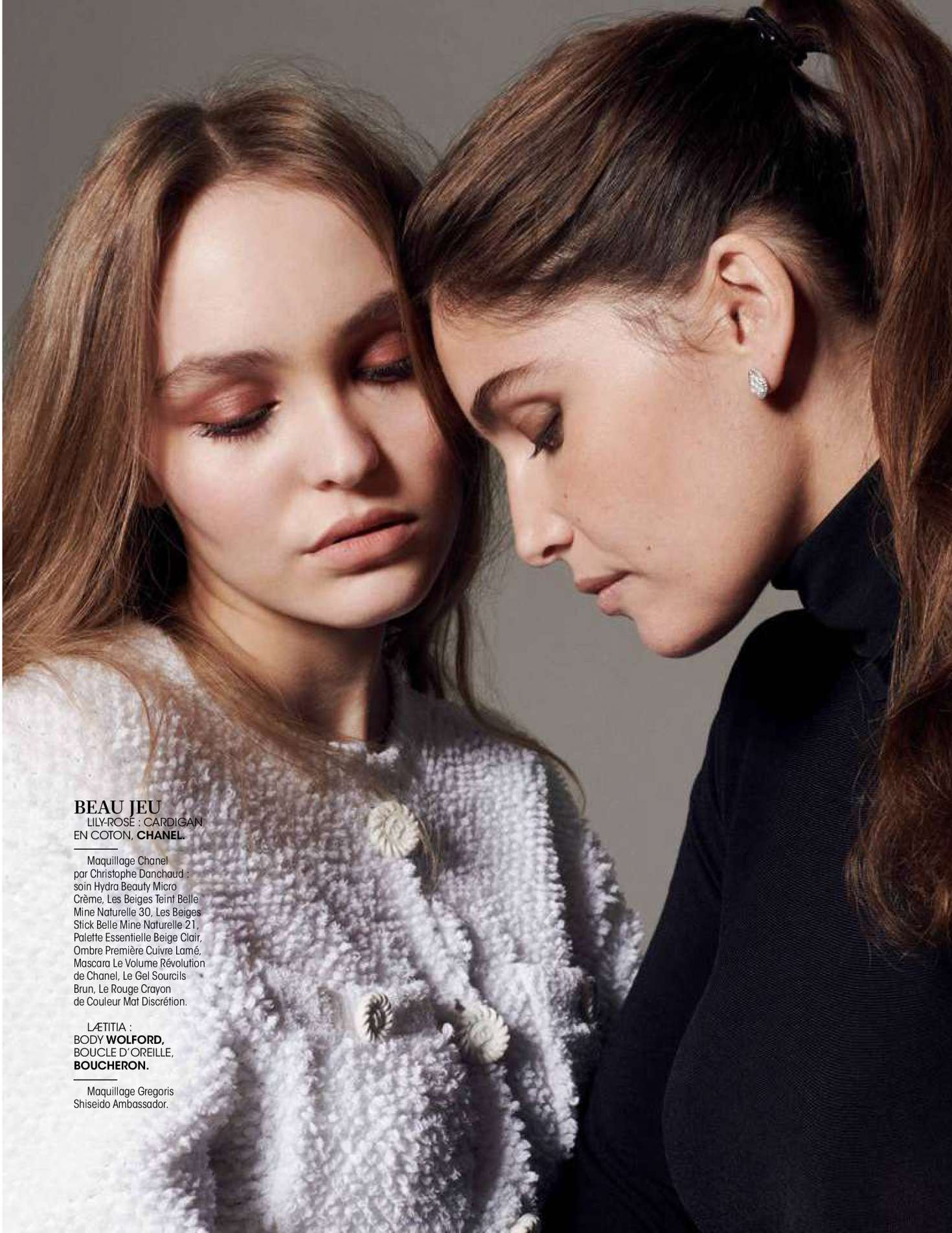 Lily Rose Depp and Laetitia Casta – Madame Figaro Magazine (December 2018)