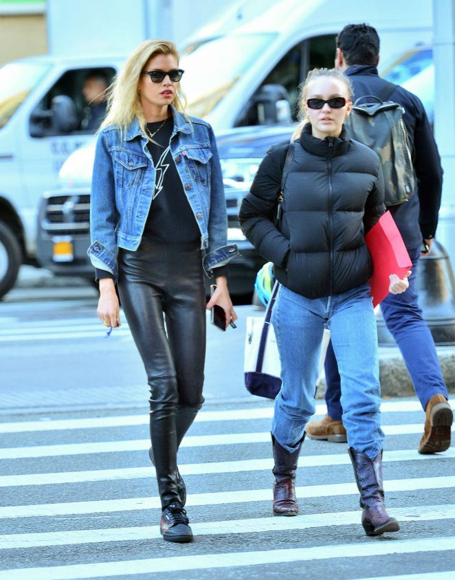 Lily Rose Depp and Stella Maxwell - Out and about in New York