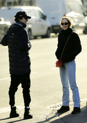 Lily Rose Depp and Timothee Chalamet - Out for lunch in New York City