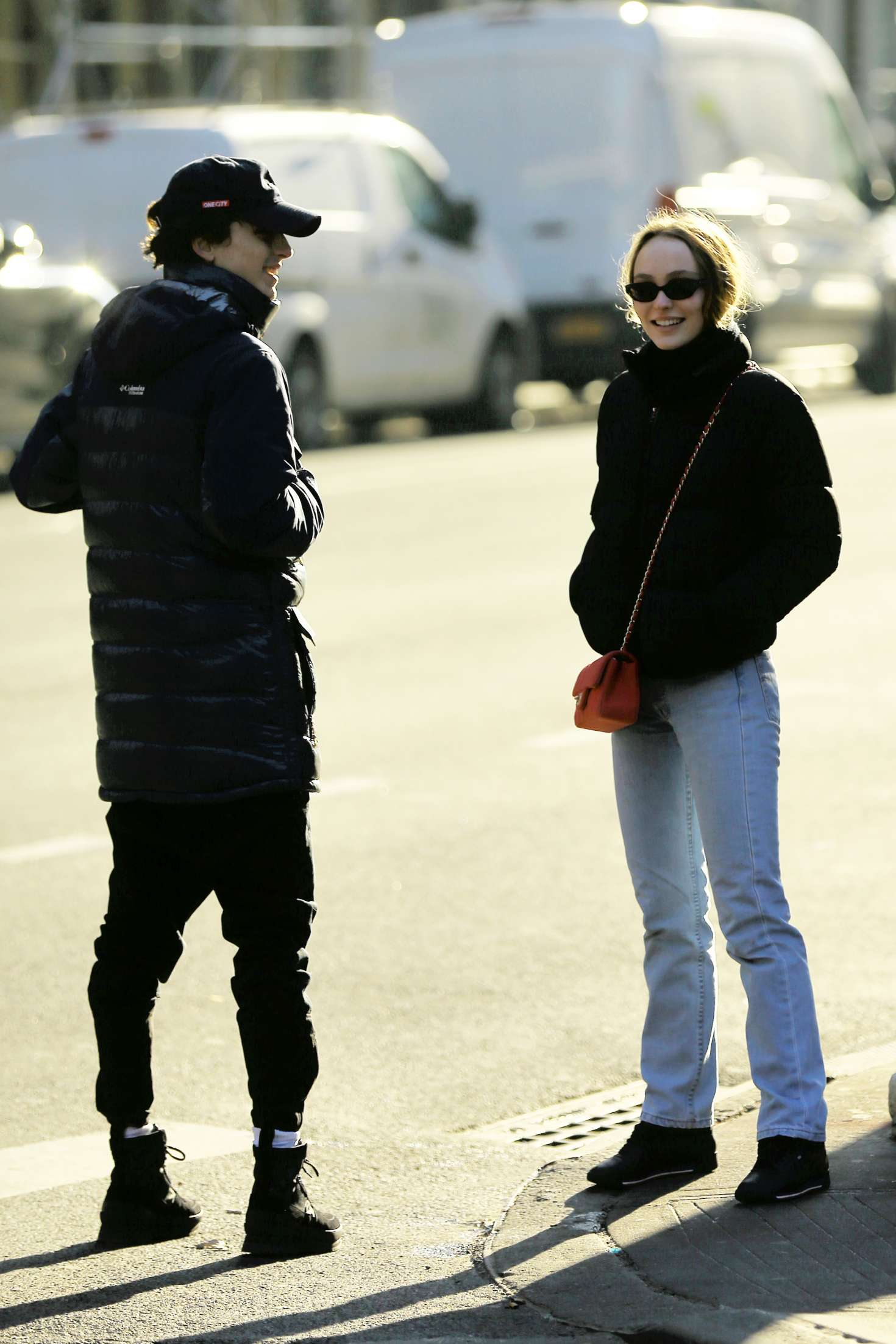 Lily Rose Depp and Timothee Chalamet – Out for lunch in New York City