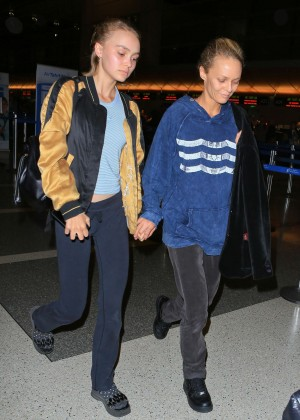 Lily Rose Depp and Vanessa Paradis - LAX airport in LA