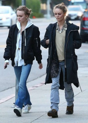 Lily Rose Depp and Vanessa Paradis out in West Hollywood